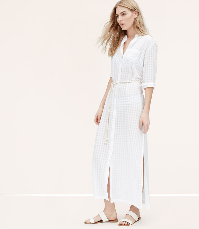 Styleimprimatur_Loft_Sheer_Stripe_Coverup_Maxi_Shirtdress_Runway_Product_Outfit_Fashion_Shopping_Blog