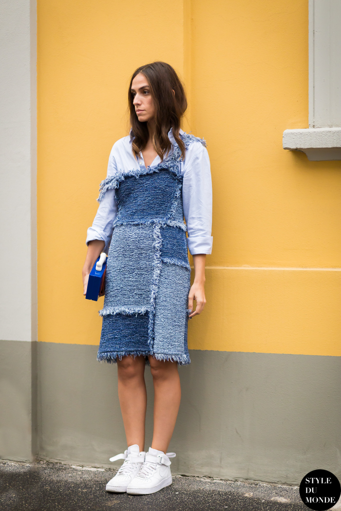 Denim Patchwork Dress